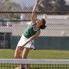 At the Bonita High School tennis courts at 9:30 a.m. on March 7, the La Verne Leopards women's tennis team battled Caltech in both doubles and singles matches. The Leopards went on to skin the Beavers, 8-1. The University will be back in action at 7 p.m. on March 13. / photo by Rafael Anguiano
