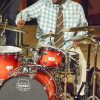 "Grammy Award winner Lyndon Rochelle performs ""Bless That Wonderful Name of Jesus"" Sunday at Morgan Auditorium. Rochelle grewƒ up listening to the influence of gospel music in Los Angeles. He started playing drums at age 1. Today, he travels around the world with his band, the Rochelle Experience."
