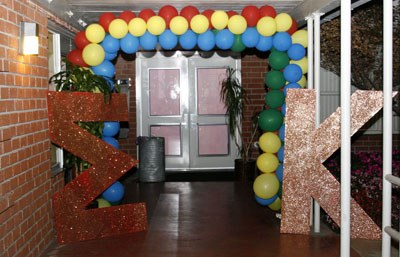 The letters of Sigma Kappa decorate the entrance to the West Dining Room of Davenport Dining Hall while the sorority held a recruitment ceremony Sept. 19. Sigma Kappa has held a charter at the University La Verne since 1986. / photo by Steven Bier