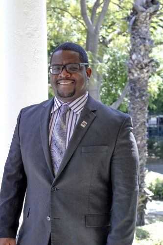 Thomas Allison, adjunct professor of speech communications, is an alumnus of the University of La Verne. Allison is founder and president of the Social Justice Advocacy Project, based in West Covina, which provides means of empowering community members in need. /photo by Tyler Deacy