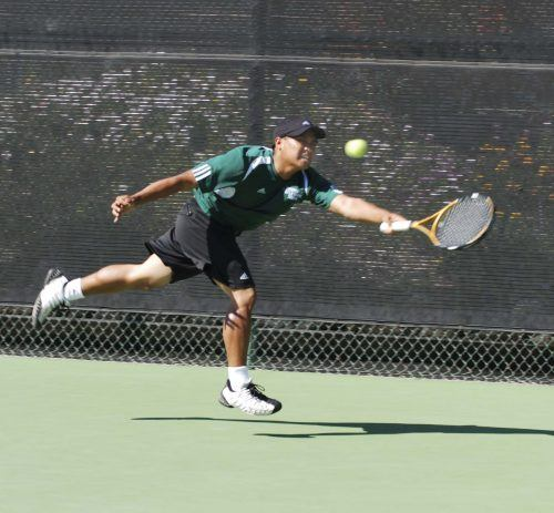 The Sewanee Tigers pounced La Verne's Leopards on Monday at The Claremont Club tennis courts. La Verne lost the home dual match 3-6 to the Tennessee team, bringing their record to 4-5. ULV will host Lewis & Clark University on March 25. / photo by Leah Heagy