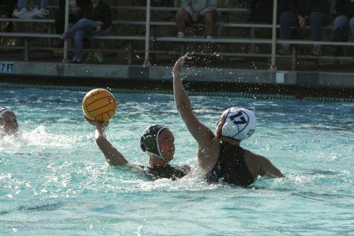 Scoring for La Verne, utility player Laura Larsen played a tough game against Whittier on Wednesday at home. The Leopards were trailing the Poets 7-2 toward the end of the second period. La Verne will host Claremont-Mudd-Scripps at 10 a.m. Saturday. / photo by Courtney Droke