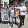 Ganesha High School senior Omar Mendez, Pomona High School senior Brenda Gomez and Garey High School seniors Melanie Andreo and Josue Garcia – recipients of the Latino and Latina Roundtable of the San Gabriel and Pomona Valley's social justice scholarship – lead the 16th annual Cesar Chavez Pilgrimage Saturday morning. Demonstrators marched down Garey Avenue, from the Pomona Unified School District Center to Garey High School, carrying posters of American labor leaders Chavez and Dolores Huerta. Members of the Danza Azteca Toyaacan troupe and more than 100 community members attended.
