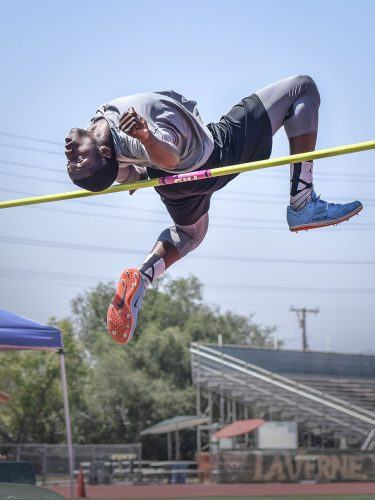 Freshman high jumper Anthony Hamilton is completing his first year on the track and field team. On April, 28 Hamilton cleared 6 feet and 7 inches in the high jump at the SCIAC Championships at Redlands. He took second place overall in the event while setting a personal record.