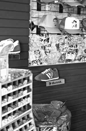 Urban Eclectic is the place to go for vintage outerwear and accessories in downtown Pomona. Located at 250 W. Second St., Urban Eclectic breathes new life into old T's, skirts, pants and sweaters and also carries new vintage-like clothes and other apparel. Owned by Devin Spencer, the store offers a unique element of graffiti art that adds to the urban ambiance. People are welcome to paint their graffiti art on panels set up throughout the store. Manager Marco Durden said that the idea behind the graffiti art is to keep it off the streets and in a venue where people can come in and appreciate the art. / photo by Bailey Porter