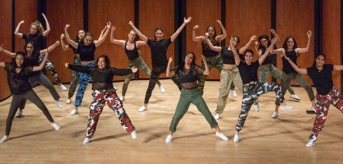 The ULV dance team closes the World of Dance Showcase Nov. 28 in Morgan Auditorium. The World of Dance Showcase presented dancers in a wide variety of styles of dance. / photo by Melody Blazauskas