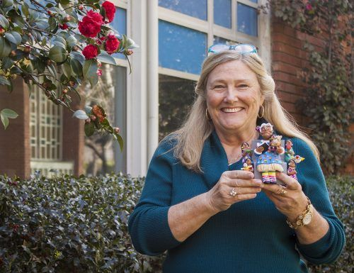 Dr. Kimberly Martin, professor of anthropology, loved collecting dolls and traveling. One of her favorite pieces was a clay sculpture of a storyteller from Oaxaca, Mexico. Dr. Martin died on Jan. 7 / file photo by Stephanie Ball