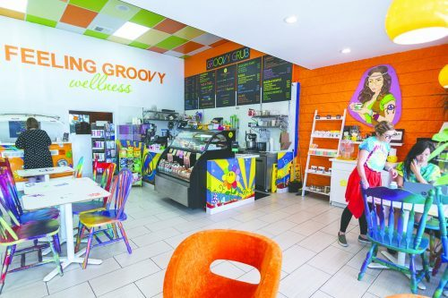 Feeling Groovy Wellness and Café offers yoga classes, Reiki healing, infrared saunas, CBD workshops and more. The menu includes smoothies, fresh juices, salads, healthy bowls and even grass-fed bone broth. Feeling Groovy is in Claremont at 863 W. Foothill Blvd. / photo by Molly Garry