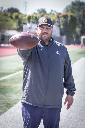 Miguel Reveles, last season's special teams coordinator, will take over the position of offensive coordinator for the La Verne football team. The Leopards finished 3-6 in 2018. / photo by Ashley Villavicencio