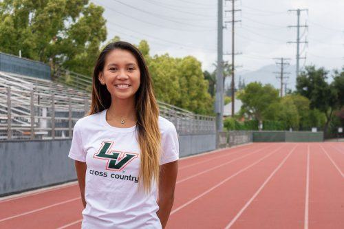 Senior distance runner Melissa Cerrillos placed second in the women's 1,500-meter at the SCIAC championship meet hosted by Claremont-Mudd-Scripps April 27 and 28. Her time of 4:40.54 was third best in La Verne history. / photo by Kayla Salas