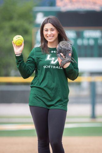 Outfielder Carly Condon graduated in January with a bachelor's degree in business administration. She played for the softball team for all four years of her eligibility. / photo by Ashley Villavicencio