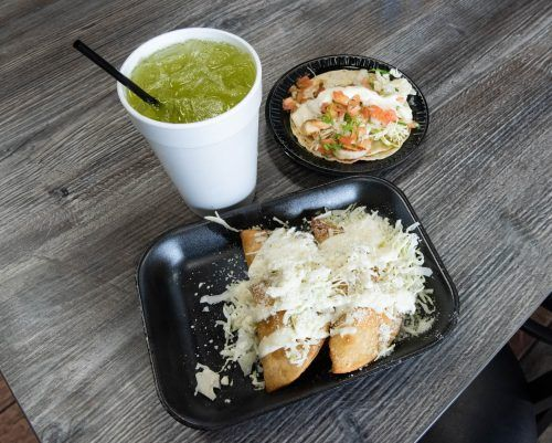 Don Baja Grill serves a selection of seasoned Mexican food, ranging from potato tacos, shrimp tacos and carne asada tacos, and drinks like horchata and a spinach-pineapple. Don Baja Grill is located at 1524 Foothill Blvd. and is open every day from 10 a.m. to 9 p.m. / photo by Katelyn Keeling