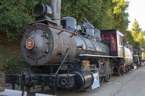 The Outer Harbor Terminal Railway Co. No. 2 engine was retired in 1955 and was once the oldest working steam locomotive in daily service in the U.S. It is on display along with more than a dozen other trains at the Rail Giants Train Museum at the Fairplex in Pomona. / photo by Maydeen Merino