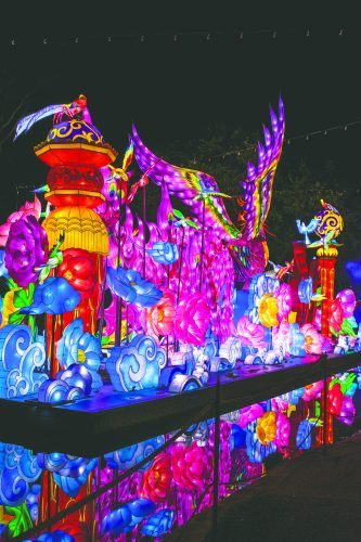 The Chinese Lantern Festival provides an array of Chinese lanterns, food, music and entertainment at the Fairplex. The festival runs until Jan. 5. / photo by Maydeen Merino.