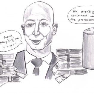 Editorial cartoon by Danielle De Luna.