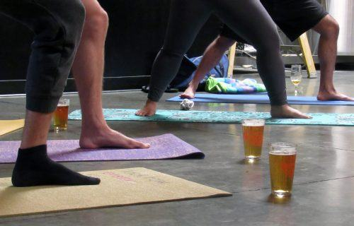 The unlikely combination of yoga and beer have managed to settle together at the La Verne Brewing Company. Every Sunday at 11 a.m., yoga enthusiasts participate in Bend, Breathe and Brew, a series of poses and stretches where the brewery serves beers during the whole lesson. By end of the lesson, participants feel either zen or lightheaded. / photo by Brianna Estrada