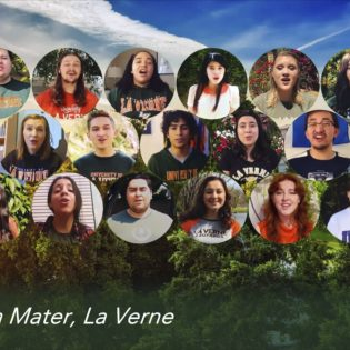 "The University Chorale and Chamber Singers end their ""Community Through Music"" virtual concert Friday by singing the University of La Verne alma mater. / screenshot by Alondra Campos"