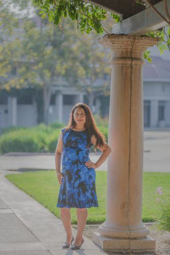 Jacqueline Elizalde, a business administration major and CAPA student, is running for mayor of Pomona. Elizalde, who hopes to see an end to human trafficking in Pomona, also does phone banking during the week and canvasses on weekends to encourage people to vote on Nov. 3. / photo by Mya-Lin Lewis