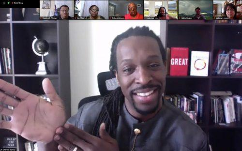 Rev. Charles Dorsey speaks about overcoming limitations and embracing your power at a Zoom lecture hosted by the Brothers Forum on Wednesday to commemorate Black History Month. / screenshot by Melody Blazauskas
