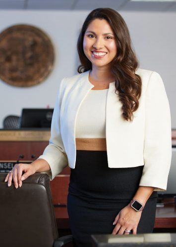 Candice Garcia-Rodrigo, a three-time University of La Verne alumna, will make history Wednesday when she is sworn in as the first Latina judge for the San Bernardino Superior Court. / file photo by William Vasta, courtesy of Office of Strategic Communications